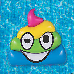 Inflatable Jumbo Poop Emoji Pool Float