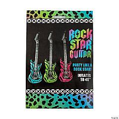 Inflatable Large Neon Zebra Print Guitars