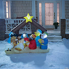 Inflatable Light-Up Nativity Scene