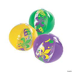 Inflatable Mardi Gras Mini Beach Balls