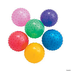 Inflatable Medium Value Spike Balls - 7