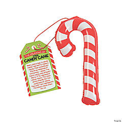 Inflatable Mini Candy Canes with Card