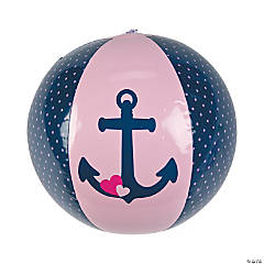 Inflatable Nautical Girl Beach Balls