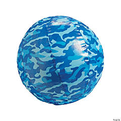 Inflatable Nylon-Covered Blue Camouflage Ball