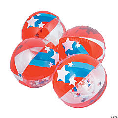 Inflatable Patriotic Confetti Beach Balls