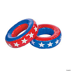 Inflatable Patriotic Obstacle Tires