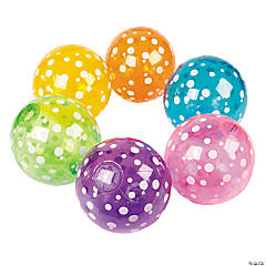 Inflatable Polka Dot Beach Balls