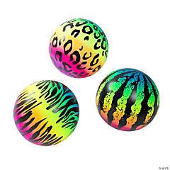Inflatable Rainbow Print Balls