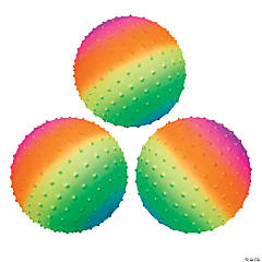 Inflatable Rainbow Spike Balls - 8