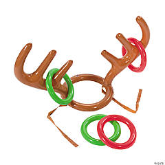 Inflatable Reindeer Antler Ring Toss Game