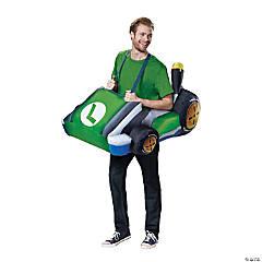 Inflatable Super Mario Brothers Luigi Kart Costume