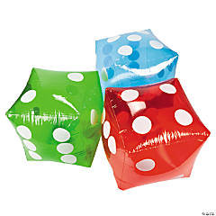 Inflatable Transparent Dice