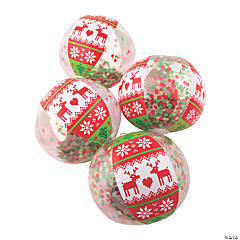 Inflatable Ugly Sweater Snow Globe Beach Balls