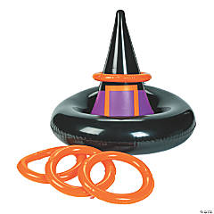 Inflatable Witch Hat Ring Toss Halloween Game