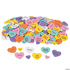 Inspirational Conversation Self-Adhesive Foam Hearts