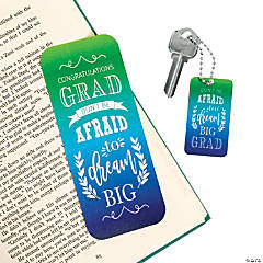 Inspirational Grad Bookmarks & Keychains