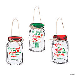 Inspirational Mason Jar Ornaments