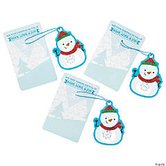 Inspirational Snowman Ornaments on Card