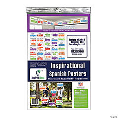 Inspired Minds Card Stock Posters, Set of 30, Spanish