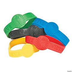 International Games Torch Rubber Bracelets