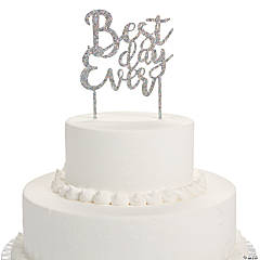 Iridescent Best Day Ever Cake Topper