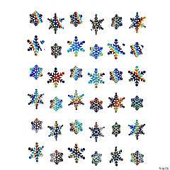 Iridescent Christmas Snowflake Hanging Decorations