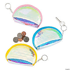 Iridescent Coin Purse Keychains