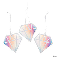 Iridescent Diamond Favor Tags
