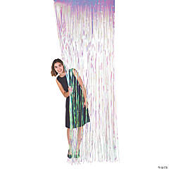 Iridescent Fringe Door Curtain