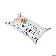 Iridescent Happy Birthday Food Trays