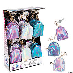 Iridescent Mini Backpack Coin Purse Keychains