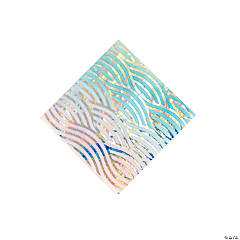 Iridescent Narwhal Party Beverage Napkins