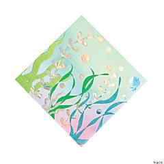 Iridescent Narwhal Party Luncheon Napkins