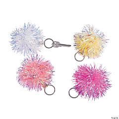 Iridescent Pom-Pom Keychains
