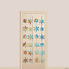 Iridescent Snowflake Door Curtain
