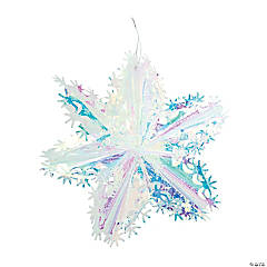 Iridescent Snowflake Star Hanging Decorations