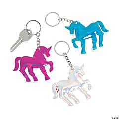 Iridescent Unicorn Keychains