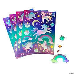 Iridescent Unicorn Sticker Sheets
