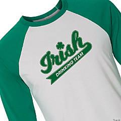 Irish Drinking Team Adult's Baseball T-Shirt