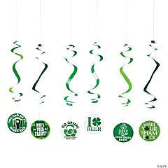 Irish Pub Sayings Hanging Swirl Decorations - 12 Pc.