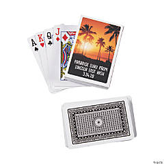 Island Luau Playing Cards with Personalized Box