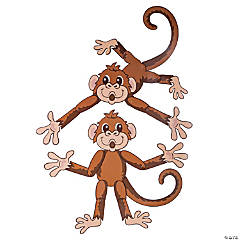 Island VBS Monkey Jointed Cutouts