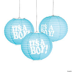 It S A Boy Hanging Paper Lanterns