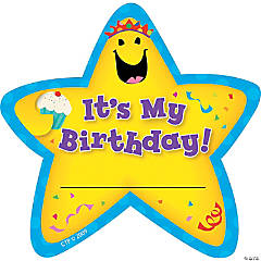 It's My Birthday! Star Badges, 36/pkg, Set of 6pks