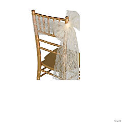 Ivory Lace Ribbon Chair Cover