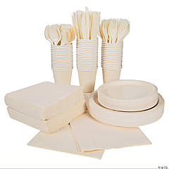 Ivory Tableware Party Pack for 48