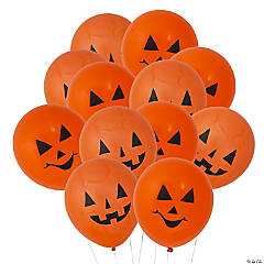 "Jack-O'-Lantern 11"" Latex Balloons Halloween Décor"