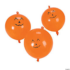 Jack-O'-Lantern Latex Punch Balls