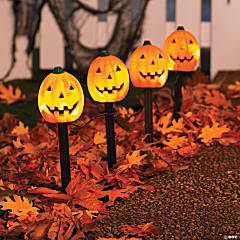 Jack-O'-Lantern Path Marker Party Lights Halloween Decoration