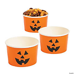 Jack-O'-Lantern Snack Cups